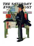 """Jazz It Up"" or ""Saxophone"" Saturday Evening Post Cover, November 2,1929 ジクレープリント : ノーマン・ロックウェル"