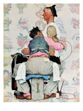 """Tattoo Artist"", March 4,1944 Giclee Print by Norman Rockwell"