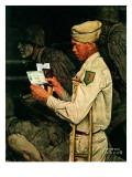 """""""War Bond"""", July 1,1944 Giclée-tryk af Norman Rockwell"""
