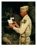 """""""War Bond"""", July 1,1944 Giclee Print by Norman Rockwell"""