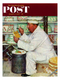 """""""How to Diet"""" Saturday Evening Post Cover, January 3,1953 Giclee Print by Norman Rockwell"""