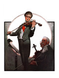 """Violin Virtuoso"", April 28,1923 Reproduction procédé giclée par Norman Rockwell"