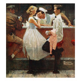 """After the Prom"", May 25,1957 Gicléetryck av Norman Rockwell"