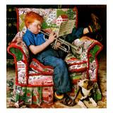 """Trumpeter"", November 18,1950 Gicléedruk van Norman Rockwell"