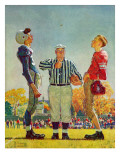 """Coin Toss"", October 21,1950 Giclee Print by Norman Rockwell"