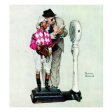 """Jockey Weighing In"", June 28,1958 Giclee Print by Norman Rockwell"