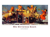 """""""The Christmas Coach"""", December 28,1935 Giclee Print by Norman Rockwell"""