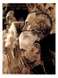 """""""Freedom of Worship"""", February 27,1943 Giclée-tryk af Norman Rockwell"""