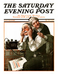 """""""Wonders of Radio"""" or """"Listen, Ma!"""" Saturday Evening Post Cover, May 20,1922 Giclee Print by Norman Rockwell"""