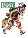 """Rosie to the Rescue"" Saturday Evening Post Cover, September 4,1943 Giclée-tryk af Norman Rockwell"