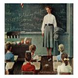 """""""Happy Birthday, Miss Jones"""", March 17,1956 Giclée-Druck von Norman Rockwell"""