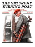 Negócio importante, Important Business, capa do Saturday Evening Post, 20 de setembro de 1919 Impressão em tela esticada por Norman Rockwell