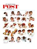 Rostos de menino, Day in the Life of a Boy, capa do Saturday Evening Post, 24 de maio de 1952 Impressão giclée por Norman Rockwell