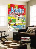 Archie Comics Retro: Josie and The Pussycats Comic Book Cover No.45 (Aged) Veggmaleri av Dan DeCarlo