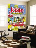 Archie Comics Retro: Josie and The Pussycats Comic Book Cover No.46 (Aged) Veggmaleri av Dan DeCarlo