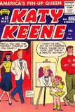 Archie Comics Retro: Katy Keene Comic Book Cover No.22 (Aged) Kunstdrucke von Bill Woggon