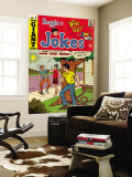 Archie Comics Retro: Reggie's Jokes Comic Book Cover No.7 (Aged) Carta da parati decorativa