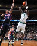 Atlanta Hawks v Boston Celtics: Kevin Garnett and Josh Smith Photo by Steve Babineau