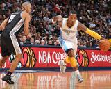 San Antonio Spurs v Denver Nuggets: J.R. Smith and Ime Udoka Foto af Garrett Ellwood