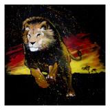 Lion Running Pôsteres