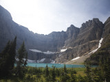 A Landscape Image of Iceberg Lake on a Sunny Day in Montana Photographic Print by Michael Hanson
