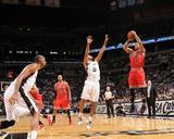 Chicago Bulls v San Antonio Spurs: Derrick Rose and Tony Parker Foto af D. Clarke Evans