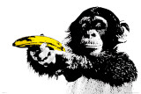 SCIMMIA, banana Poster