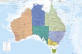 Carte d'Australie Posters