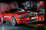 EASTON - Roter Mustang Poster