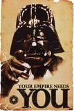STAR WARS, Dit imperie har brug for dig, på engelsk Posters