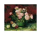 Roses and Peonies, c.1886 Giclee-trykk av Vincent van Gogh