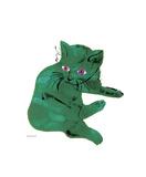 Chat vert, vers 1956 Reproduction procédé giclée par Andy Warhol