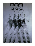 Triple Elvis, 1963 Giclée-tryk af Andy Warhol
