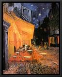 O Café Terrace na Praça do Fórum, Arles, à noite, cerca de 1888 Impressão em tela emoldurada