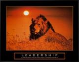 Leadership: Lion Impressão em tela emoldurada