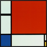Composition with Red Blue Yellow Framed Canvas Print by Piet Mondrian