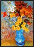 Vaso de flores, cerca de 1887 Impressão em tela emoldurada por Vincent van Gogh