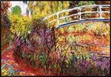 A ponte japonesa Impressão em tela emoldurada por Claude Monet