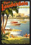 Fort Lauderdale, Florida Framed Canvas Print by Kerne Erickson