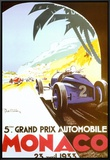 5th Grand Prix Automobile, Monaco, 1933 Framed Canvas Print by Geo Ham