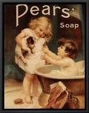 Pears Soap Impressão em tela emoldurada