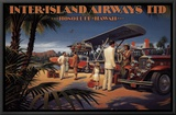 Inter-Island Airways Framed Canvas Print by Kerne Erickson