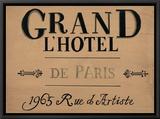 Grand l'Hotel Impressão em tela emoldurada