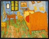 The Bedroom at Arles, c.1887 Framed Canvas Print by Vincent van Gogh