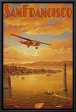 Western Air Express, San Francisco, California Framed Canvas Print by Kerne Erickson