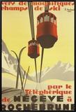 Megeve Impressão em tela emoldurada por Pierre Michaud
