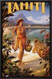 Taiti Impressão em tela emoldurada por Kerne Erickson