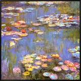 Lírios de Água, 1916 Impressão em tela emoldurada por Claude Monet