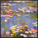 Water Lilies, 1916 Framed Canvas Print by Claude Monet