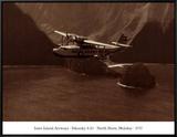 Inter-Island Airways, Sikorsky S-43, Kaunakakai, Molokai, Hawaii, 1937 Impressão em tela emoldurada
